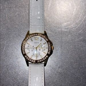Guess Genuine Leather Watch